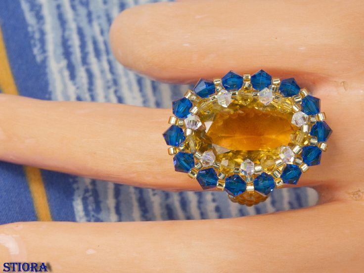 swarovski ring and citrine