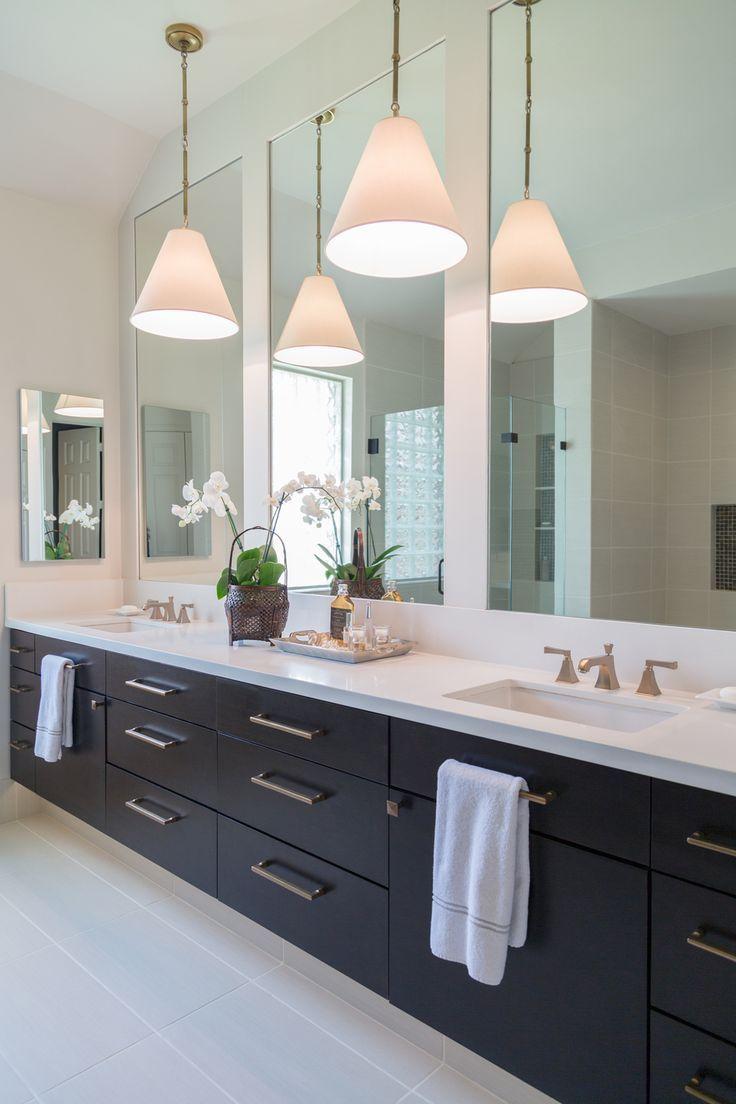 A Beautiful Alternative For Lighting In The Bathroom Bathroom Vanity Designs Modern Bathroom Mirrors Modern Master Bathroom