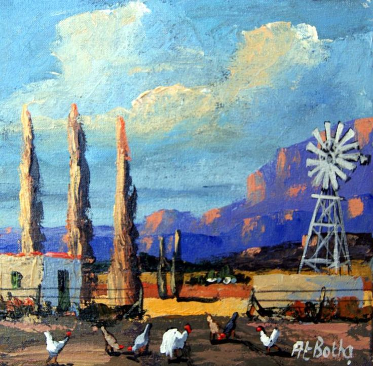 At_Botha_Landscape_blue_with_chickens_H0823_250_x_250_Acrylic_unframed_R2_9007493.JPG