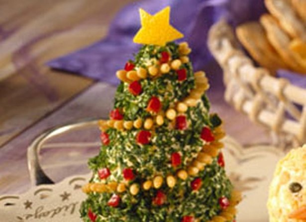 Appetizer Cheese Trees/Enjoy this creatively made cheese spread - a delicious appetizer perfect for Christmas celebration.