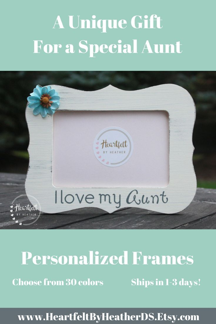 Gift for aunt | Mother\'s Day gift for aunt | picture frame for aunt ...