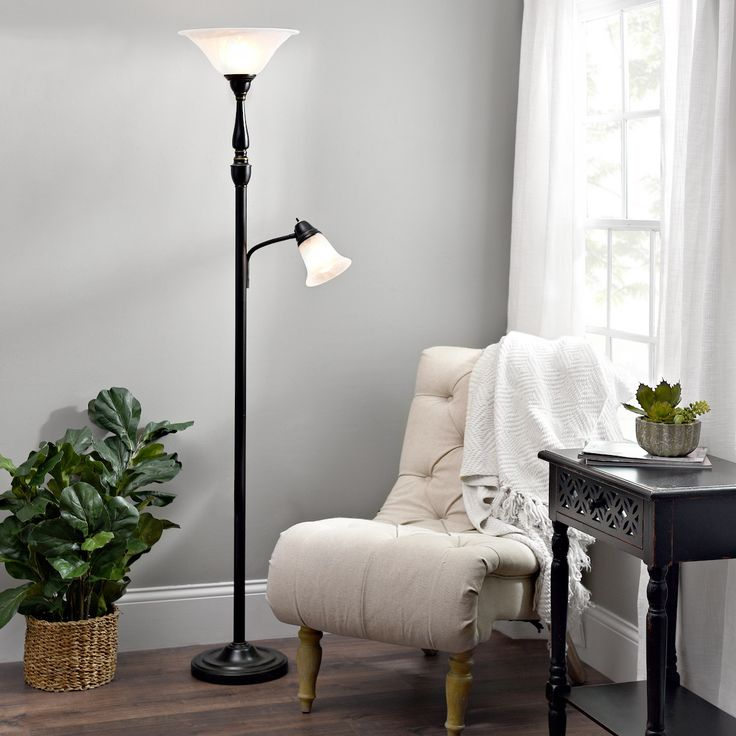 Light up the reading nook or a whole room with a torchiere