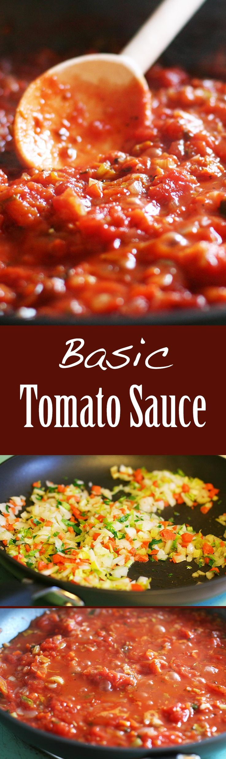 A great tomato sauce is the basis for so many dishes! Use for pizza, pasta, chicken, or fish. Here's a classic marinara sauce, chunky or smooth. So easy to make your own and better than store bought! Gluten free and vegan. On SimplyRecipes.com