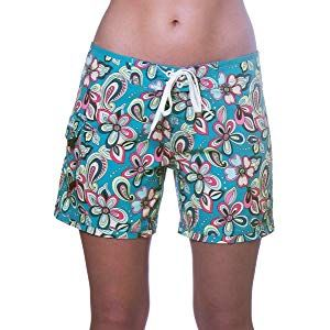 """bc95cacc799 Maui Rippers Women's 4-Way Stretch 5"""" Swim Shorts Boardshorts   irms ..."""