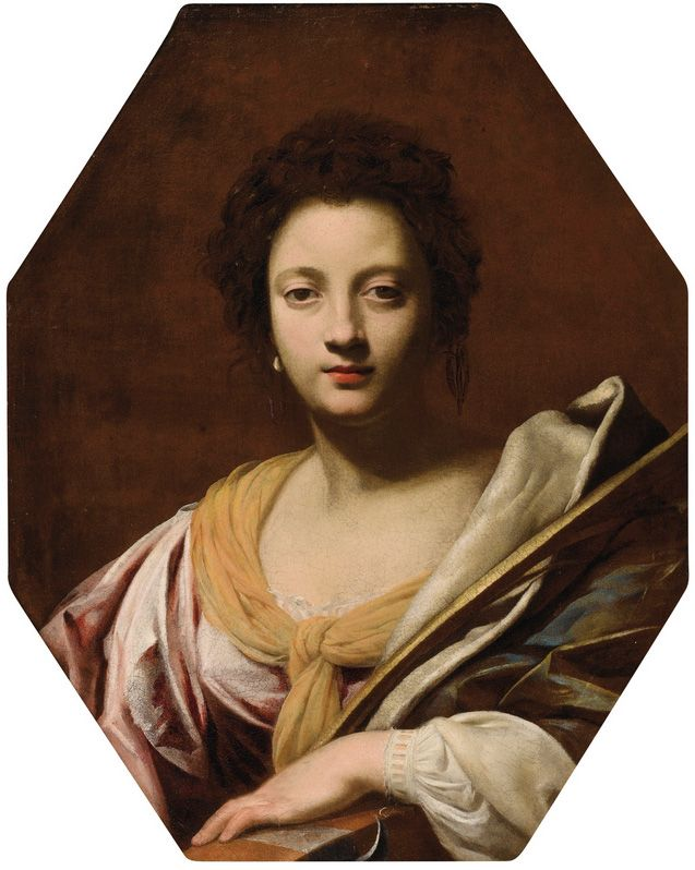 Саймон Вуэ Портрет женщины, вероятно, Урсула Da Vezzo, сестра-в-законе художника, как Святой Екатерины 1620
