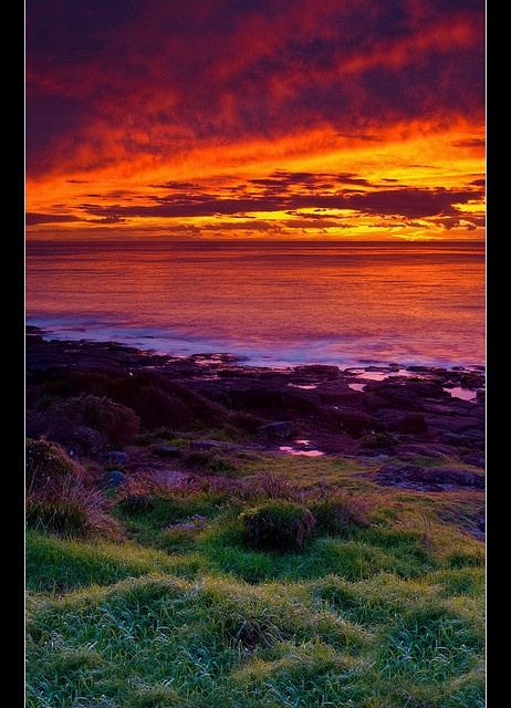 red sky at dawn, sailor forewarned by djgr, via Flickr   Bawley Point, New South Wales, Australia