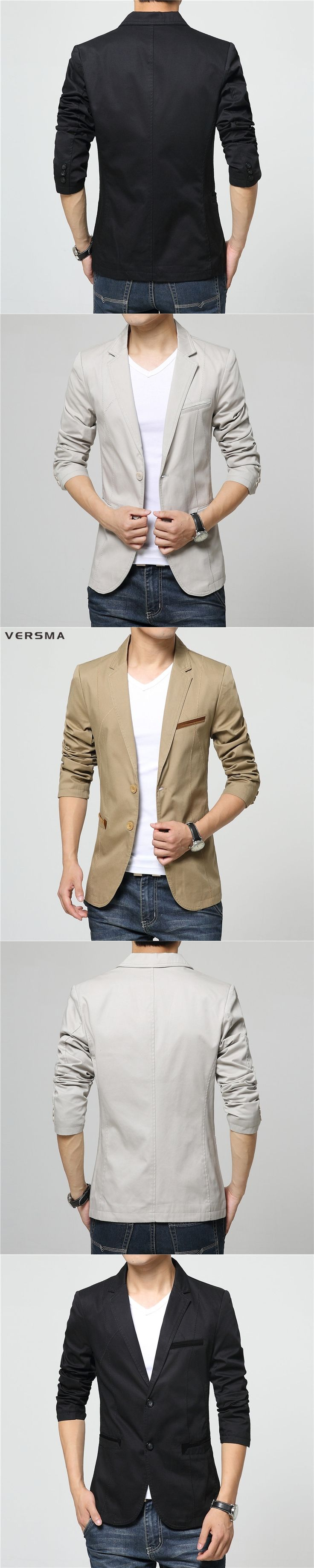 VERSMA Beige Black Casual Men Blazer Suit Jacket Styles for Wedding Party Wear Chaqueta Terno Slim Fit Office Suits Blazers Male