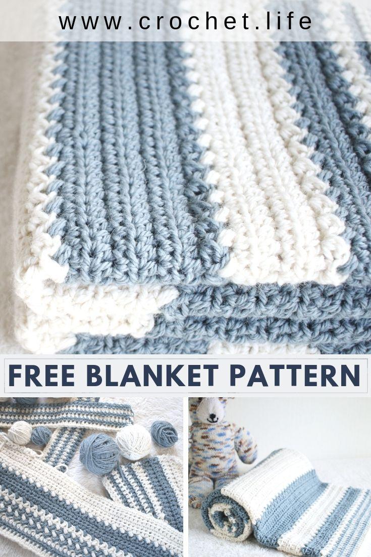 Free Baby Blanket Pattern Easy Crochet Pattern By