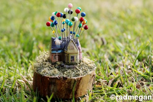 Pincushion inspired by 'Up' : Miniatures, Disney Movies, Up House, Movies Inspiration, Pin Cushions, Inspiration Crafts, Pictures, Crafts Idea, House Pincushion