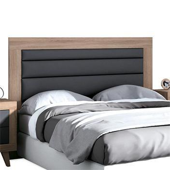CABECERO MILAN 257 149€ Cabecero para cama de 135 cm o 150 cm en color cambrian y tapizado polipiel gris. Medidas: 161x121x3 cm.