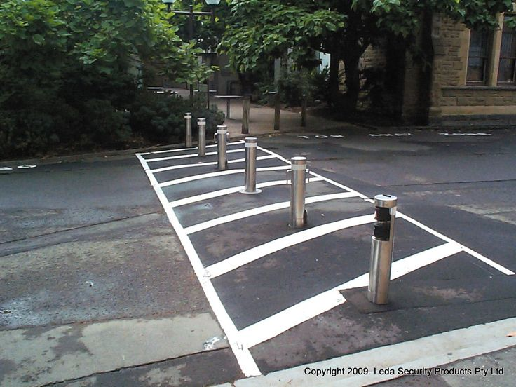 Automatic pneumatic bollards will be constructed using a continuous mild steel or stainless steel pipe. Minimum diameter of 150NB.