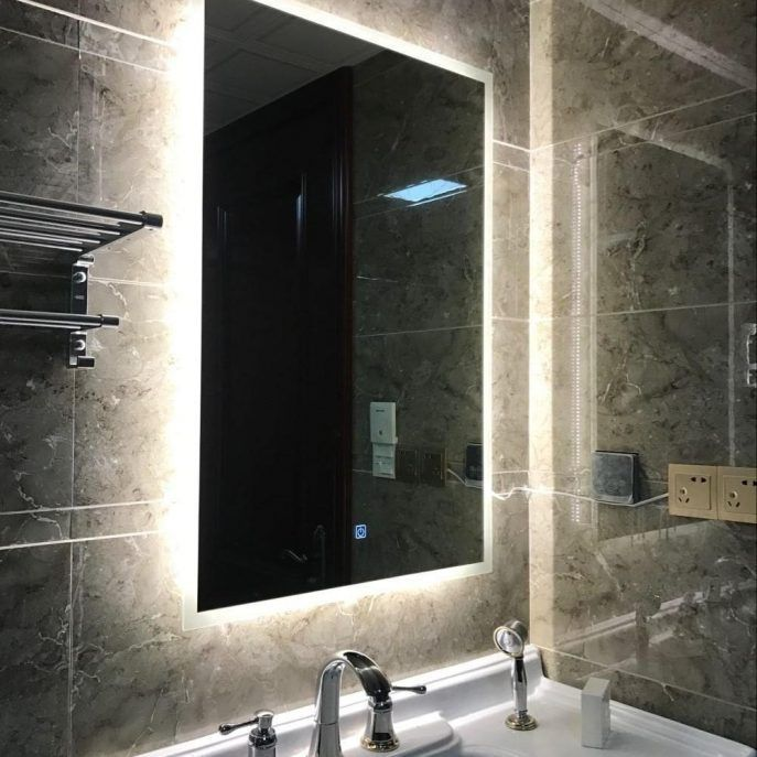 Diy Vanity Mirror With Led Lights Bathroom Small Simple Frame Vanity Mirror Led Lights Ideas Bu Diy Vanity Mirror Backlit Bathroom Mirror Bath Mirror