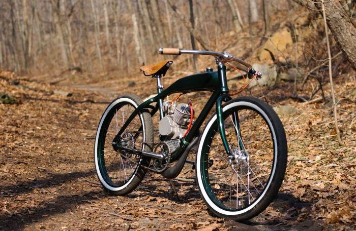 Classic Motorized Bicycle by Tyler Smutz
