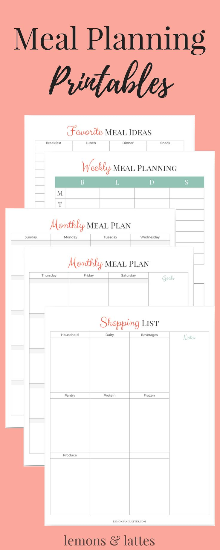 Overwhelmed with what's for dinner? Join our blog waiting list + newsletter & snag your meal planning printables so that you can get organized once and for all.