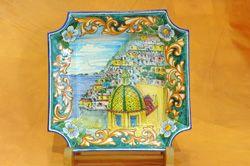 piatti dipinti,Ceramiche dipinte a mano,Costiera Amalfitana,terracotta,vasi,orci,piatti,portaombrelli,servizio piatti,decori,Praiano,Positano