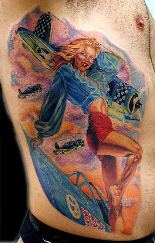 Ww2 pin up girl tattoos