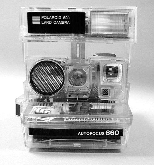 Transparent Polaroid - Polaroid Land Camera 660 (Autofocus)