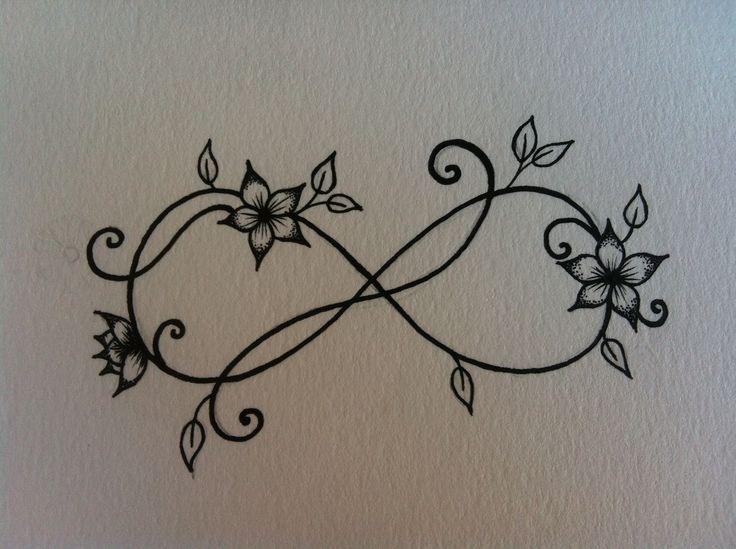 I really like this design for infinity wrist tattoo