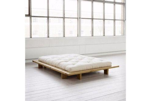 Lit de 2 places Inside 75 Cadre de lit japonais JAPAN miel 160*200cm avec sommier