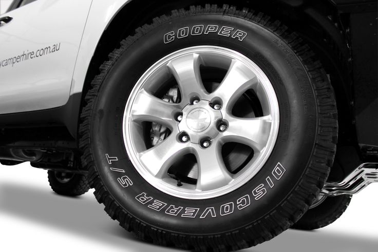 The choice of a quality All Terrain tyre minmizes the risk of punctures. All Hire Vehicles are fitted with Cooper AT3 AT Tyres