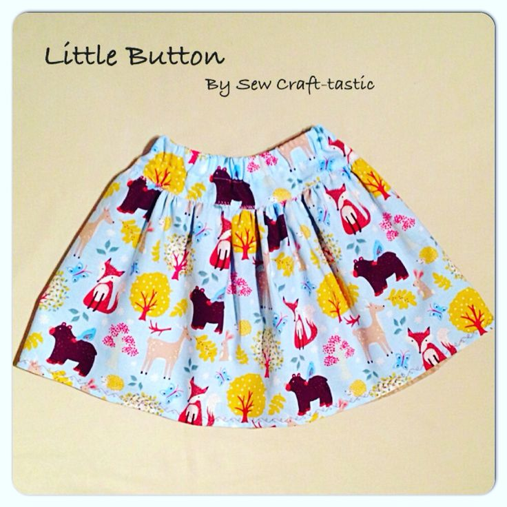 'Wonderful Woodland' themed twirly skirt, fully lined. Age 3-4 €18