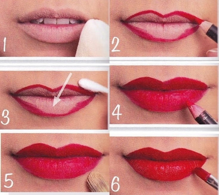 Step By Step Lip Makeup Application With Pictures - Mugeek ...