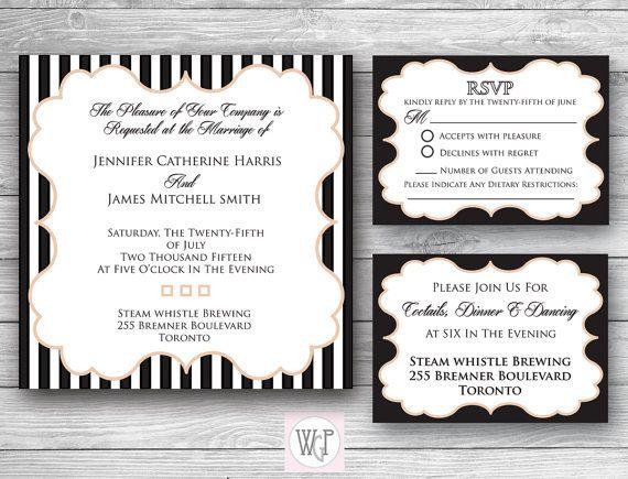 Ava Wedding Invitation Set  Digital Download by WeddingGlitzPrints
