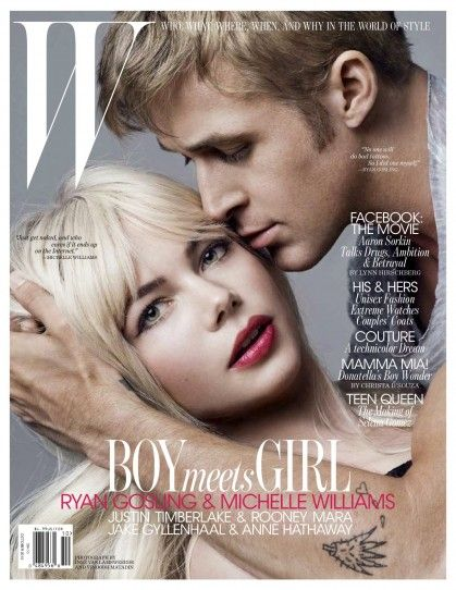 This is one of the most gorgeous mag covers I have seen. Michelle Williams looks so pretty. It's refreshing. #michellewilliams #ryangosling