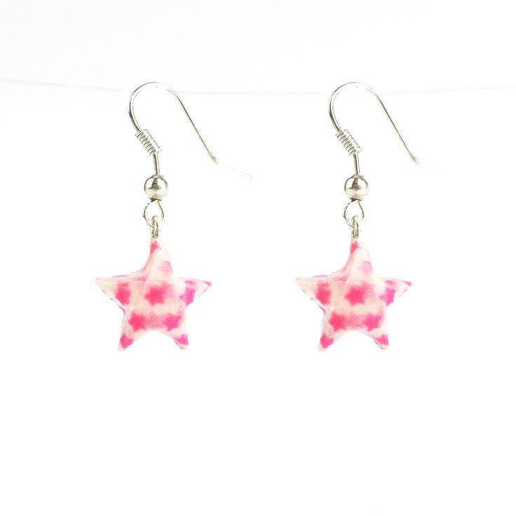 Origami Star Earrings #origami #star #pop #earrings #paper #art