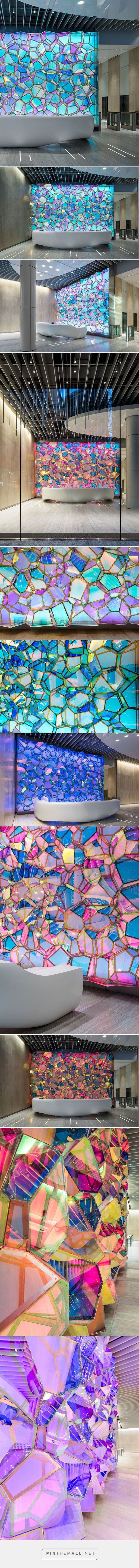 SOFTlab animates one state street lobby with kaleidoscopic wall structure - created via https://pinthemall.net