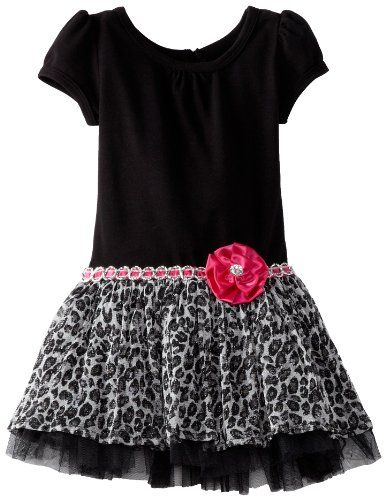 Youngland Little Girls' Short Sleeve Knit To Printed Mesh Dress, Black/White, 2T Youngland http://www.amazon.com/dp/B00CALRPZU/ref=cm_sw_r_pi_dp_5Metub0R66QAH