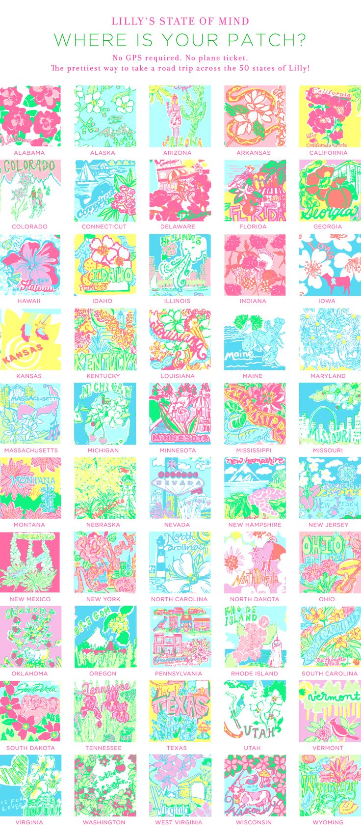 Co color art printing alaska - Lilly Pulitzer State Of Mind Print What State Are You From What
