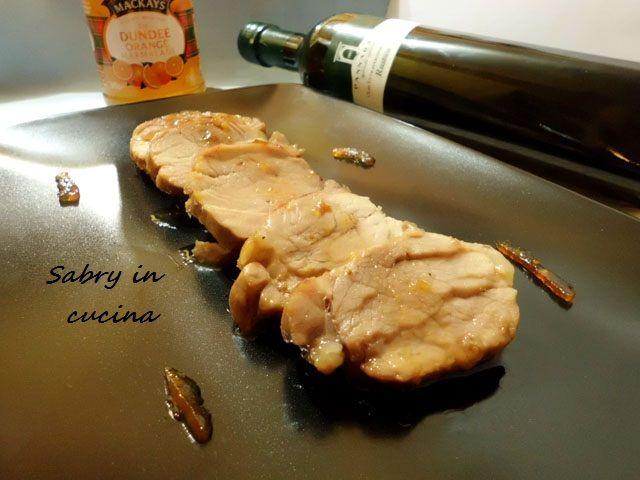 Filetto di maiale con marmellata d'arance e zenzero - Ricetta raffinata