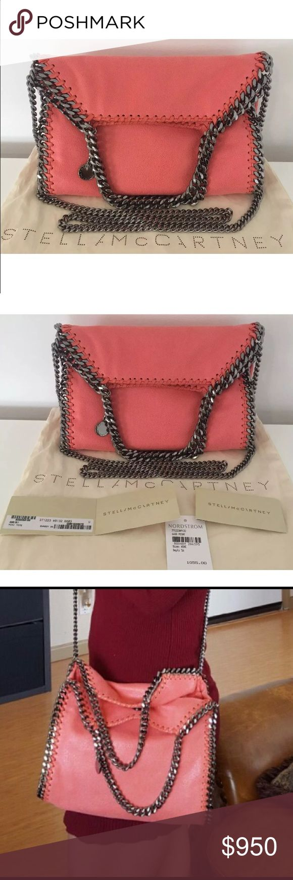 .BNWT Stella McCartney Falabella Mini Shaggy PEONY 🎉🍁SALE🍁🎉🎉🍁SALE🍁🎉🎉🍁SALE🍁🎉🍁SALE🍁🎉🍁SALE🍁🎉 Stella McCartney Falabella Mini Shaggy Deer Faux PEONY color Orange/red/pink super cute and chic! Silver Metallic tone strap, magnetic strap closure. Measurement is approximately 10x10x3 strap drop 5 with 18.5 shoulder. Can be use as a handbag or crossbody. Comes with dustbag and all the paperworks. 100% auntentic. 🚫No Trades🚫 I paid over $1160 wth tax Will accept a reasonable offers…