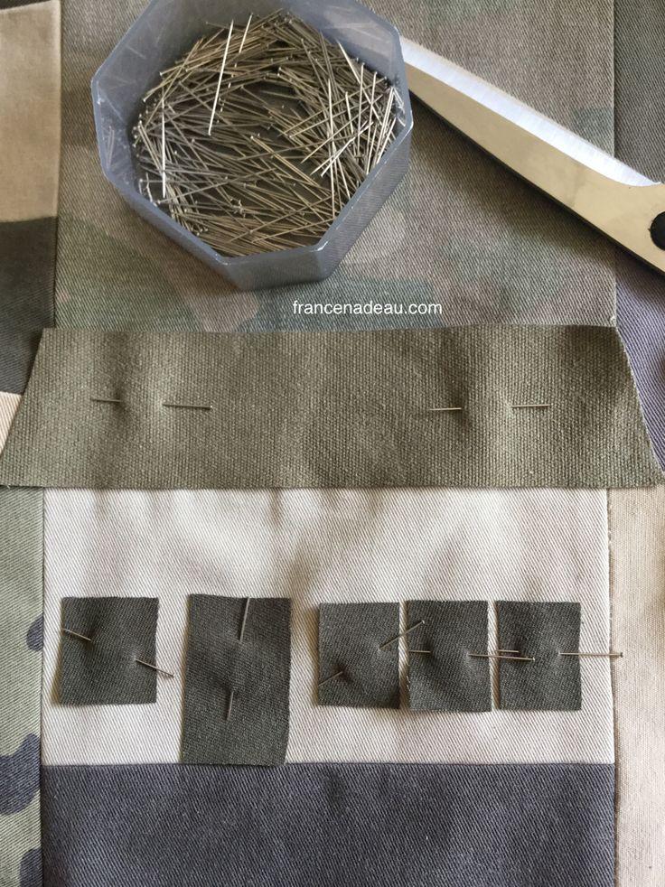 Adding houses to my blocks made with old pants - J'ajoute des maisons aux courtepointes faites avec de vieux pantalons - francenadeau.com