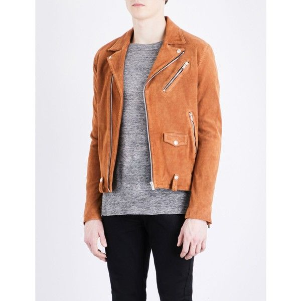 The Kooples Biker collar suede jacket (€630) ❤ liked on Polyvore featuring men's fashion, men's clothing, men's outerwear, men's jackets, mens suede leather jacket, mens suede moto jacket, mens white moto jacket, mens suede jacket and mens biker jacket
