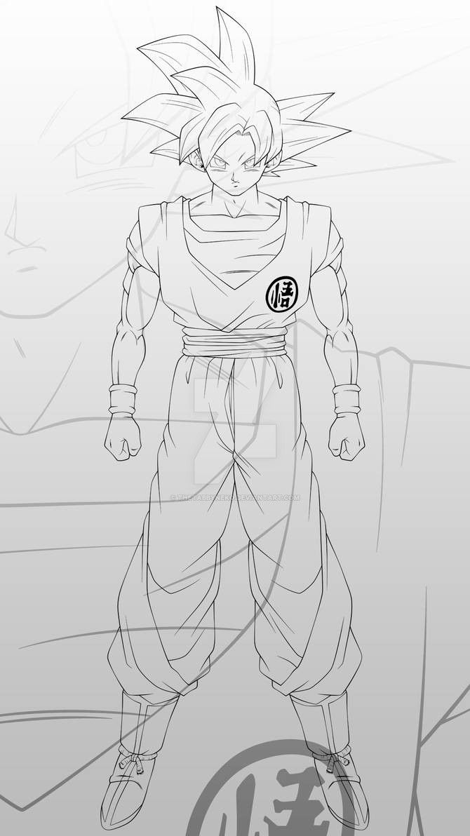 Goku Super Saiyan God 2 Lineart By Thetabbyneko On Deviantart Dragon Ball Super Art Goku Super Saiyan God Goku Super