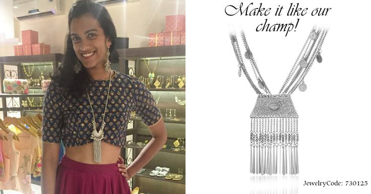 Happy National Sports Day!  Make it like Nation's champ @Pvsindhu1  with our silver toned necklace. #PVSindhu #voylla