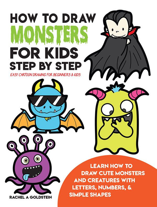 Drawing Monsters Book For Kids Drawing Cartoon Characters