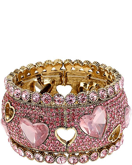 ICONIC PINKALIOUS HEART WIDE BANGLE FUSCHIA accessories jewelry bracelets fashion
