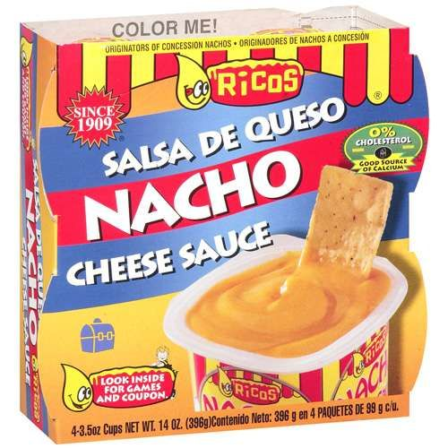 Ricos: Nacho Cheese Sauce, 4 Ct: best nacho cheese EVER, another thing to remind me of home!