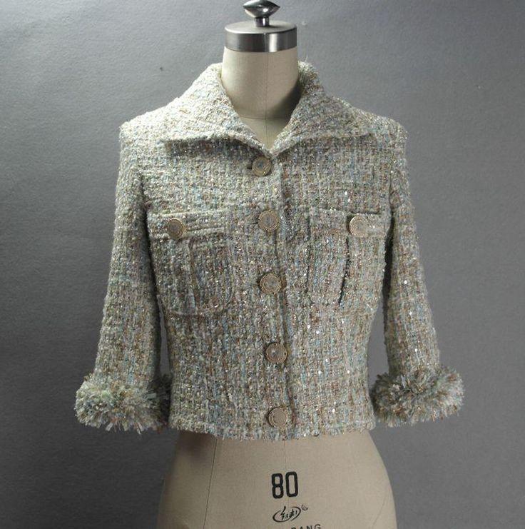 Твидовый пиджак + юбки костюмы дамы осень/зима женские Куртки расширенный пользовательский небольшой ароматный ветер блестками короткое пальто купить на AliExpress