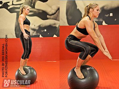 Ball exercises in Muscular Development.  #ArmbarNation See more at RondaRousey.net diet workout jiu jitsu