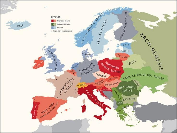 Internasjonal politikk og kart : hvilke lands stereotyper er dette? (2) - kilde: Internasjonalen.com - en blogg av @kimgabrielli av @kimgabrielli
