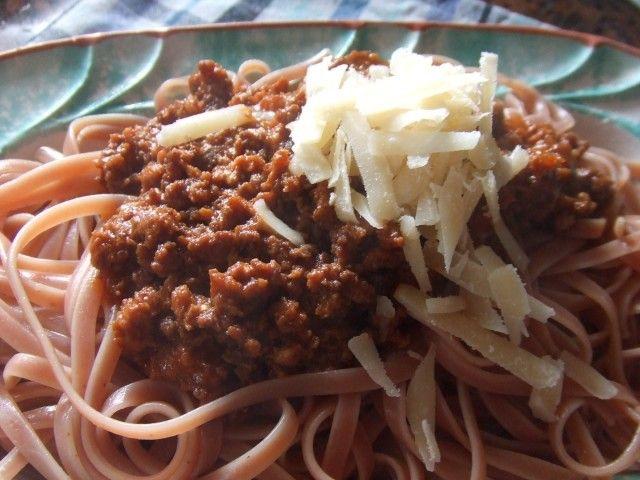 Bolognesa de liebre con pasta