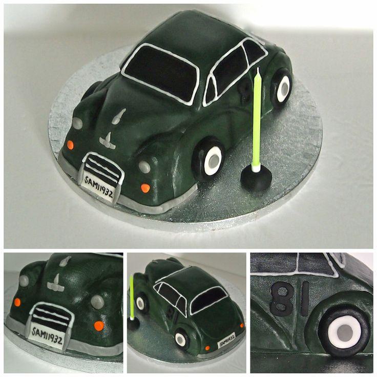 Morris Minor Car Cake