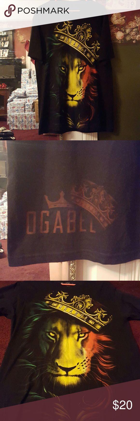 Ogabel men's graphic short sleeve shirt EUC men's graphic short sleeve shirt, rasta lion graphic. Ogabel Shirts Tees - Short Sleeve