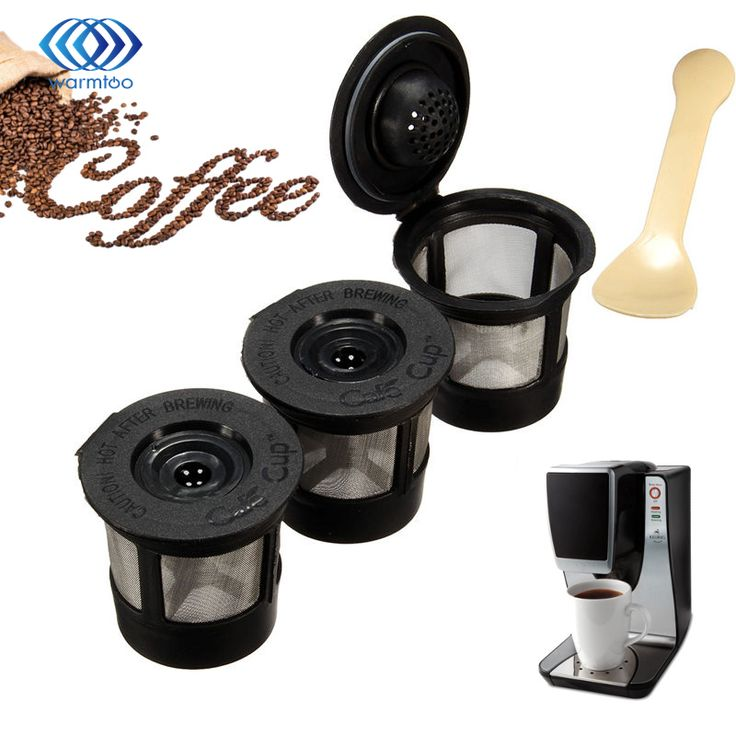 Plastic 3pcs/set Coffee Filters Strainer Basket Coffee Capsule For Keurig For K-cup Coffee System Reusable Filter With 1 Spoon