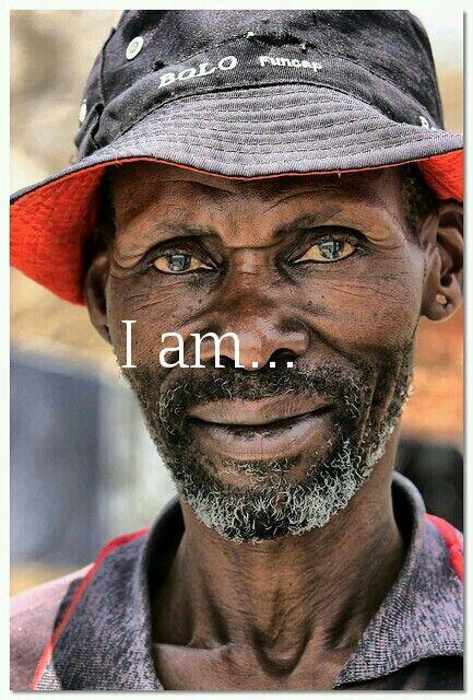 An African man