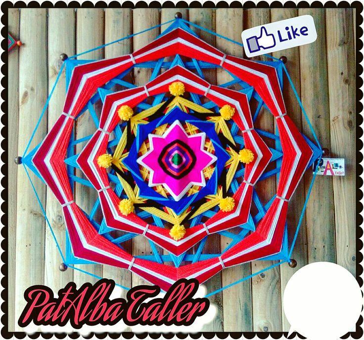 Mandala 1mt. 8 puntas❤ #mandalas #energías #tejidoterapeutico #armonía #decoración #patalbataller #diseñoindependiente #diseñodeautor #artesana